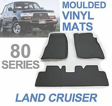 To suit Toyota Land Cruiser 80 Series 3D Floor Mats Moulded Rubber Vinyl
