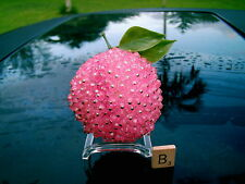 VINTAGE PINNED JEWELED FRUIT  PINK PEACH  (B)  TAKE A LOOK