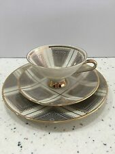 Winterling Marktleuthen Bavaria Luncheon Trio Cup, Saucer, Plate Art Deco