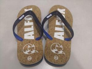 Cork blue flip flops