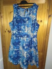 Womens mini dress by Vero Moda Size 14 Watered Blue Very good condition