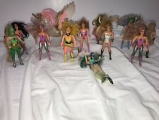 She-Ra Princess of Power Action Figures Dolls Lot of 12 Mattel 1980s