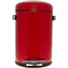 SIMPLEHUMAN RED RETRO PEDAL BIN 4.5L 31x22cm