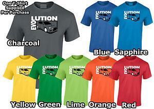 Lumipix Mitsubishi Evolution 10 Mens Car T-Shirt Great Gift