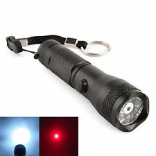 New 2 in1 Portable 7 LED Flashlight Torch + Red Laser Pointer Light Lamp w Strap