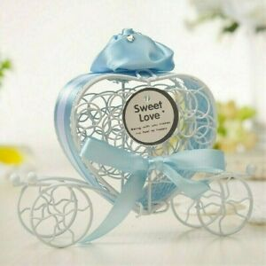 5 X Iron Wire Hollow Candy Jars Carriage Shape Wedding Sweet Lace Up Boxes Kit