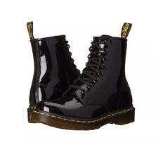 DOC Dr. Martens 1460W Black Patent Lamper Lace Up Boots #11821011 - Size 9