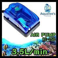 RECENT AIR PUMP 3.5L/MIN AQUARIUM FISH TANK MARINE POND NANO OXYGEN AERATOR