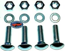 """GM GMC 7/16""""-14 Thread 1-1/2"""" Stainless Capped Head Front Rear Bumper Bolts 4p B"""