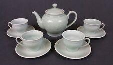 chinese celadon green tea set tea pot cups saucers floral
