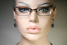 Size Small ORUM FIRENZE M258 Dark Satin Copper Color Glasses Eyeglass Frames