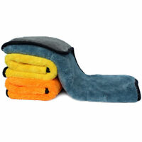 3Pcs Séchage de voiture microfibre détaillant propre serviette de cire 45x38cm