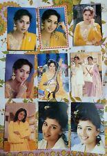Lot 24 Rare Bollywood Actress Madhuri Dixit Postcard Postcards Post Card P11
