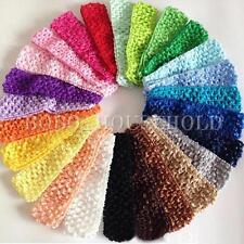50 Bulk Elastic Baby Girls Toddler Crochet Hair Head Band Headband Hairband