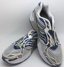 Saucony Progrid Women's Sneakers, US Size 8-1/2, White Blue, No Laces (RF674)