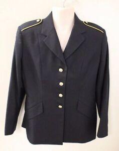 US Army Woman's ASU Dress Blue Service Coat, Size: 14JR NSN 8410-01-552-2272 NEW