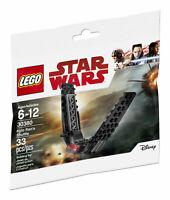 Lego Star Wars The last Jedi 30380 Kylo Ren's Shuttle New Poly Bag HTF Set Rare