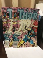 The Mighty Thor #339 lot of 2 -High Grade 1st App Stormbreaker Beta Ray Bill