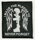 US Military Fallen Soldier Cross Memorial Never Forget Moral Patch