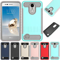 Shockproof Armor Hybrid Rugged Hard Case Cover For LG Aristo Fortune Phoenix 3