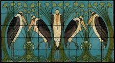 Art Nouveau Marabou Stone Marble Tile Mural Backsplash 36x20 William Morris