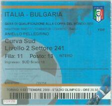 68532 -  BIGLIETTO PARTITA CALCIO 2010: ITALY /  BULGARIA Campionato Mondiale