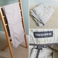 Ladies CRAGHOPPERS Cargo Beige Trousers/Shorts Sz 10 R Convertible Outdoors