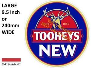 TOOHEYS NEW  DECAL STICKER LABEL 9.5 INCH DIA 240 MM HOT ROD FRIDGE BAR