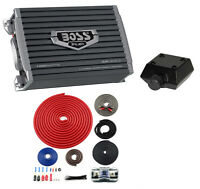 BOSS AR12002 1200W 2 Channel Car Audio Amplifier AR1200.2 + 4 Gauge Ga Amp Kit