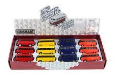 """12PC BOX: 2.5"""" Kinsmart 1962 Volkswagen Bus Diecast Toy Car Keychain 1:64"""