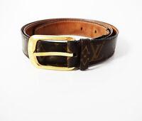 Authentic Louis Vuitton Monogram Ellipse Belt