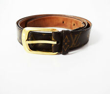 Authentic Louis Vuitton Monogram Ellipse Belt