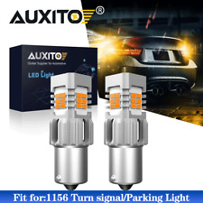 AUXITO 1156 7506 BA15S LED Front Turn Signal Light Bulbs Amber Anty Hyper Flash