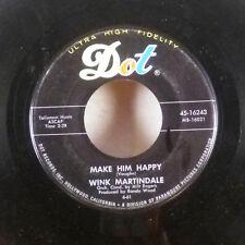 """Wink Martindale Black Land Farmer / Make Him Happy 7"""" 45 Dot superb M-"""