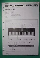 Original ROLAND Service Notes- HP-100/EP-50 Electronic Piano First Edition