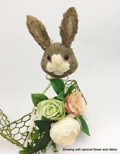 Easter Cute Bunny Rabbit Head Pick New Idea Natural Sisal Fiber Straw Spring