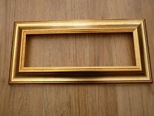 """12"""" x 4"""" chunky distressed gold photo frame"""