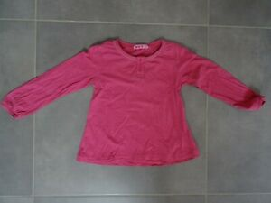 T-shirt manches longues rose NKY Taille 6 ans avec col boutonné