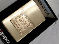 GLOCK FIREARMS Zippo Lighter GOLD SOLID BRASS