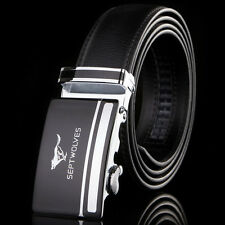 """NEW-Mens Belt Real Leather Genuine SEPTWOLVES Classic Black/Brown Waist 30""""-44"""""""