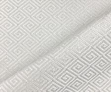 Designer Upholstery Fabric Heavy Weight Textured Diamond Solid - White