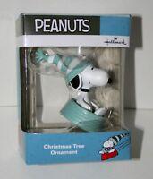 Hallmark Peanuts Snoopy Dog Bowl Sledding Christmas Ornament 2017 New Box