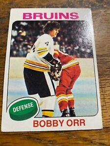 1975 Topps Bobby Orr #100 Nice Card