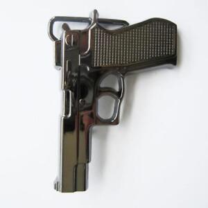 Black Gunmetal Finish Hand Gun Metal Fashion Belt Buckle