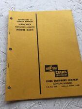 Hancock, Clark 260E Scraper Operators Manual