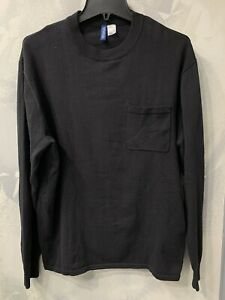H&M Black Sweater With Front Pocket Sz S