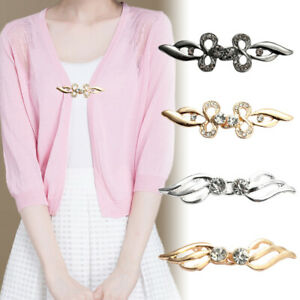 Women Fashion Cardigan Sweater Shawl Clip Fastener Cloak Clasp Buckle Pin Brooch