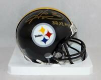 Hines Ward Signed Pittsburgh Steelers Mini Helmet W/ SB MVP- JSA W Auth *Gold
