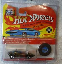 25th ANNIVERSARY REDLINES HOT WHEELS SILHOUETTE - MET. OLIVE - in a PROTECTOR
