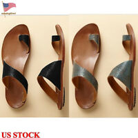 Women Beach Flip Flops Fashion Toe Ring Sandals Slippers Casual Flat Shoes Size